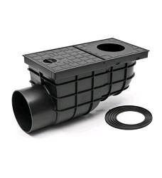 Lapač střešních vod KV 110B boční černý