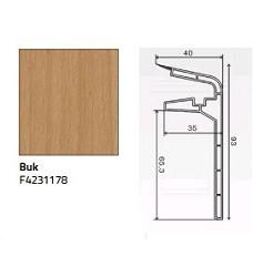 Krycí soklová lišta buk  2 m    FT512