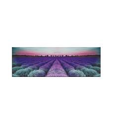 Milano lavender field glass dekor 25x75