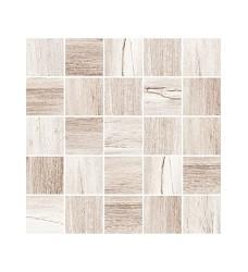 Carlos wood mosaic dekor 25x25