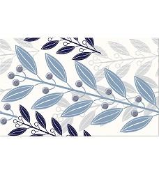 Lunia White leaves   dekor    25x40