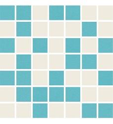 Duma white/turquoise mozaika   20x20