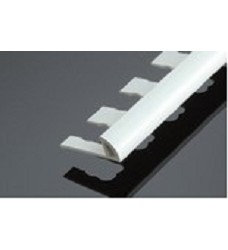Lišta ukonč.    PVC  7mm 1167 bílá